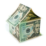 Dollar bills home Stock Photo