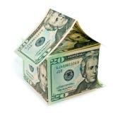 Dollar bills home Stock Photo