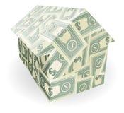 Dollar bills house Stock Photography