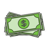 Dollar bills icon. USD currency symbol Royalty Free Stock Photography