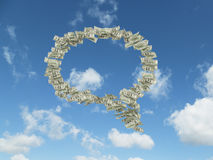 Free Dollar Bills In Form Think Box Stock Photography - 48048842