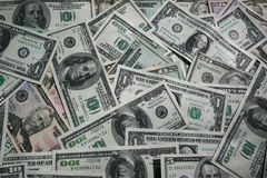 Dollar bills money background Stock Photos