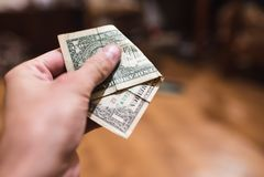 Dollar bills, money background. Dollars money set close up Stock Images