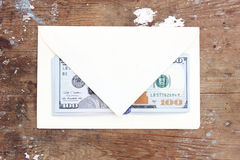 Dollar bills or money with envelope Stock Photography