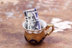 Dollar bills money roll Royalty Free Stock Photography