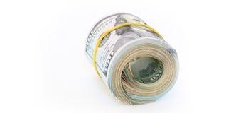 Dollar bills. Pack of dollar bills on white background Stock Photo