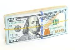 Dollar bills. Pack of dollar bills on white background Stock Photography