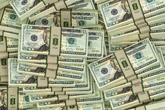 20 Dollar Bills Royalty Free Stock Photography