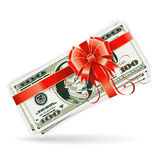 Dollar Bills with Ribbon and Bow Royalty Free Stock Image