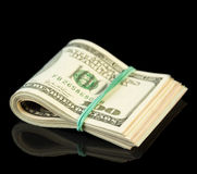 Dollar bills rolled up Royalty Free Stock Photo