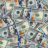 100 dollar bills seamless Royalty Free Stock Photos