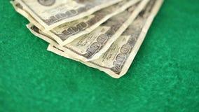 Dollar bills spinning stock video
