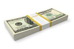 Dollar bills stack. Ten thousand dollars. 3d image vector illustration