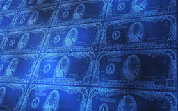 1000 Dollar Bills Stacked. 3D abstract background of 1000 dollars bills stacked Stock Photography