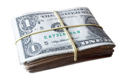 Dollar bills tied Stock Image