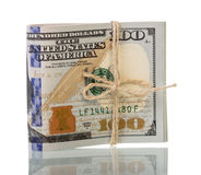 Dollar bills tied with rope Royalty Free Stock Photo
