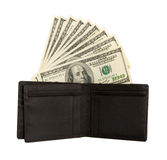 Dollar bills U.S. in wallet Royalty Free Stock Image
