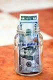Dollar bills. Usd american dollar bills in glass box Stock Photos