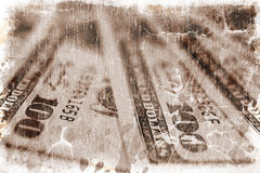 Dollar bills (vintage style) Stock Images