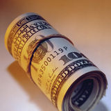 Dollar Bills - Wad of Cash Stock Images