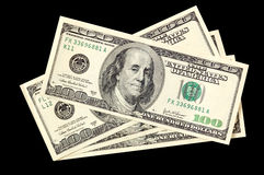 Dollar on a black background Royalty Free Stock Photos