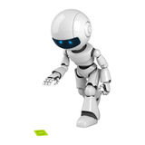 Dollar blanc de trouvaille de robot illustration stock