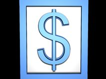 Dollar Blue. High resoulation 3d Render dollar royalty free illustration