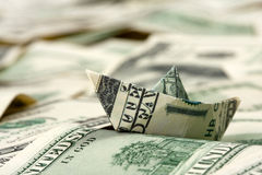 Dollar boat Royalty Free Stock Images