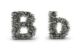 Dollar bokstav B Arkivbild