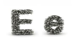 Dollar bokstav E Royaltyfri Fotografi