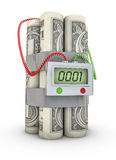 Dollar bomb Royalty Free Stock Photography