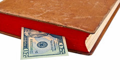 Dollar in the book Royalty Free Stock Photo