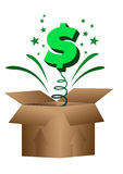 Dollar in the box Royalty Free Stock Image