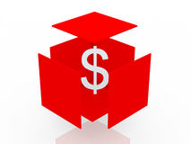 Dollar in box Royalty Free Stock Photography