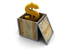 Dollar in the box Stock Image