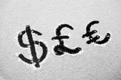 Dollar, British Pound and Euro sign Royalty Free Stock Photography