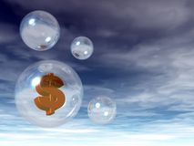 Dollar bubble Royalty Free Stock Photos