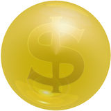 Dollar Bubble. Bubble with Dollar sign, symbol for money and finance vector illustration