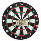 Dollar on bulls eye Stock Image