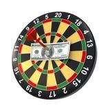 Dollar on bullseye Royalty Free Stock Photos