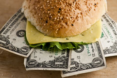 Dollar Burger Stock Photography
