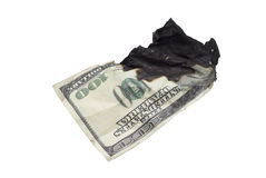 Dollar burnt Royalty Free Stock Photography