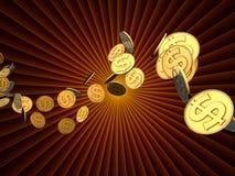 Dollar Burst Royalty Free Stock Photo