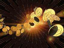 Dollar Burst Royalty Free Stock Image