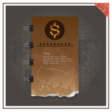Dollar business paper money gold vector black background Royalty Free Stock Photography