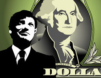Dollar and businessman  Royalty Free Stock Images
