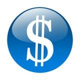 Dollar button Royalty Free Stock Photos