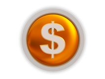 Dollar button Royalty Free Stock Photos