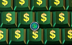 Dollar buttons on keyboard Royalty Free Stock Images