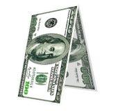 Dollar bygger ett hus Arkivfoto